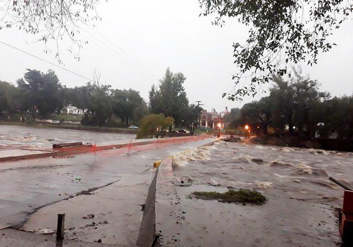 El río San Antonio creció 3,80 metros — Carlos Paz