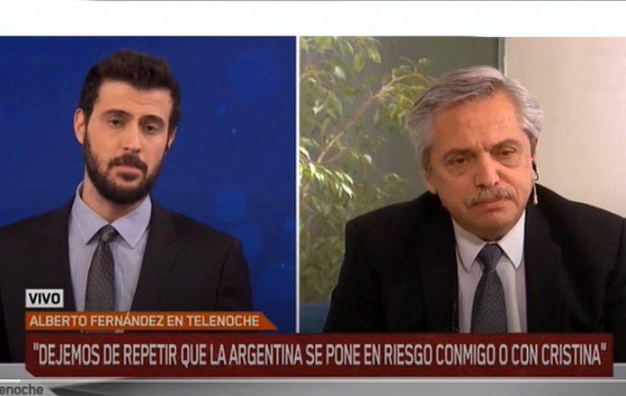 Tensa entrevista entre Diego Leuco y Alberto Fernández