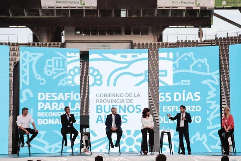 """Alberto Fernández y Cristina Kirchner en La Plata: """"El Frente de Todos sigue unido como siempre"""""""