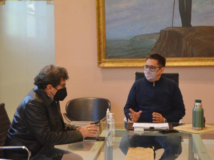 El intendente escuchó las propuestas de Capello, candidato a vocal activo del InSSSeP